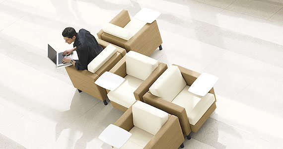 Citi with Tablet Arm Lounge Club Chair by Global